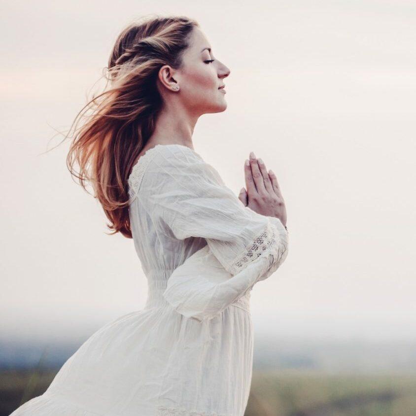 Beautiful woman in a meadow